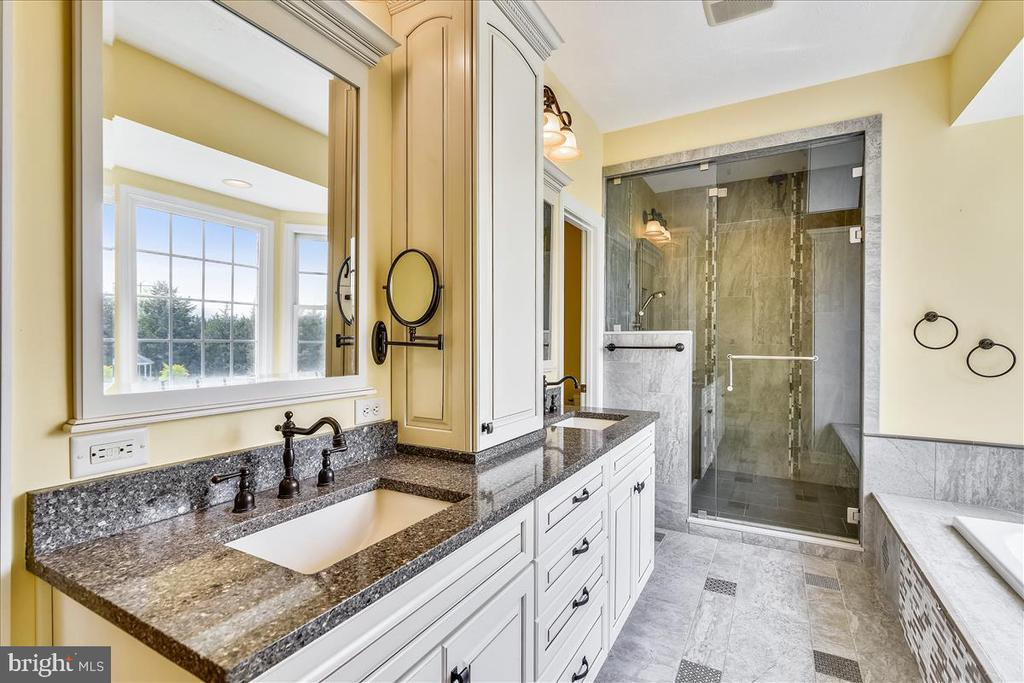 Master bathroom... total luxury... heated floors - 2040 SALEM CHURCH RD, STEPHENS CITY