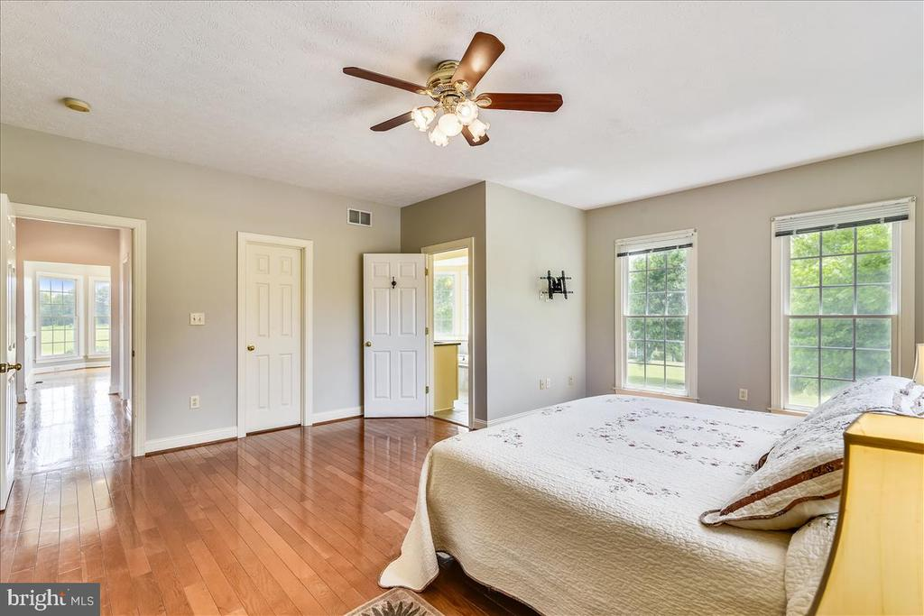 Large master bedroom on the main level - 2040 SALEM CHURCH RD, STEPHENS CITY