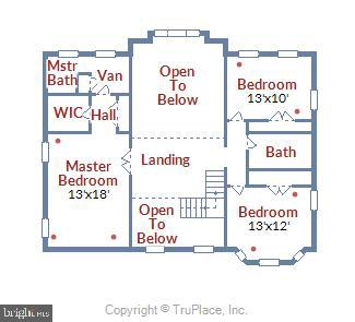 Floorplan upper level - 2040 SALEM CHURCH RD, STEPHENS CITY