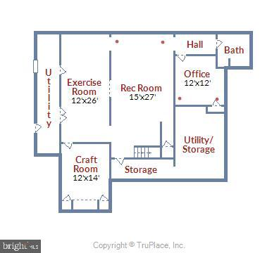 Floorpan lower level - 2040 SALEM CHURCH RD, STEPHENS CITY