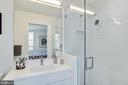 Contemporary master bath with extra large shower - 1106 T ST NW, WASHINGTON