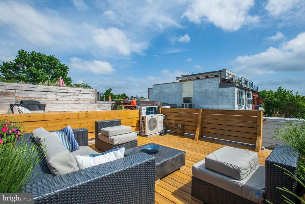 Amazing roff top deck with views - 1106 T ST NW, WASHINGTON