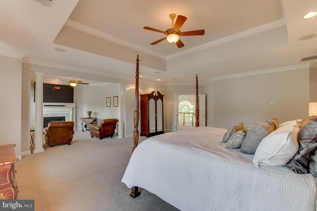 Master bedroom sitting room with gas fireplace - 17072 SILVER CHARM PL, LEESBURG