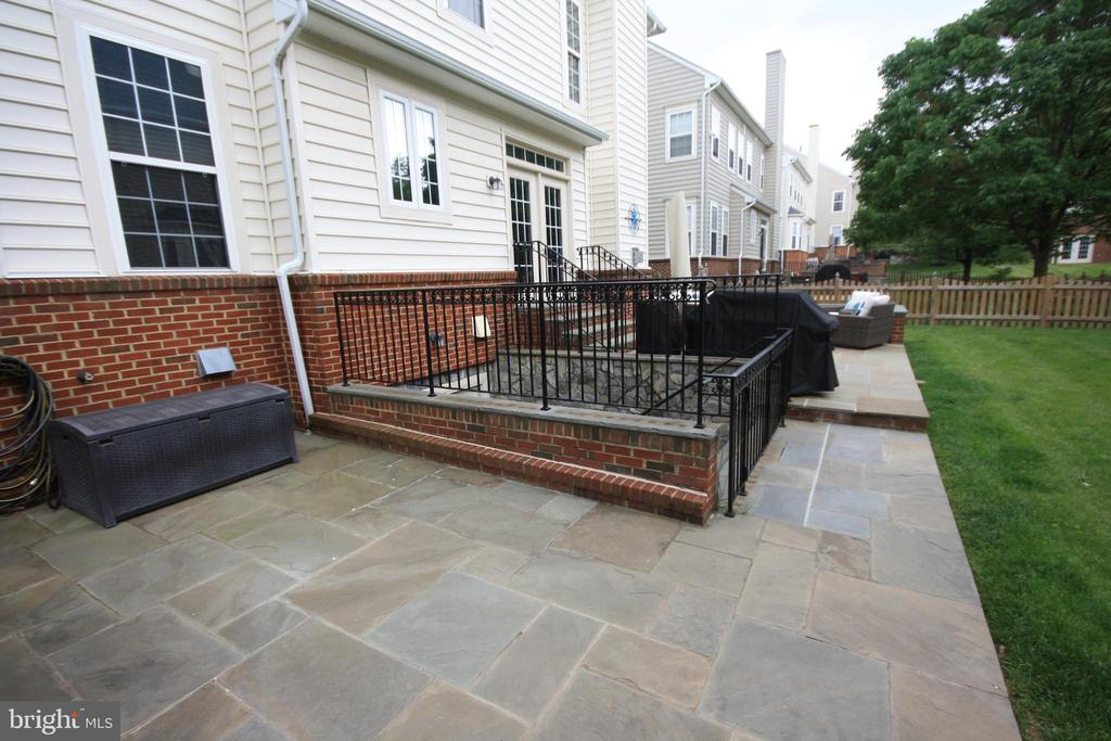 Custom Slate Patio for Entertaining - 42636 EMPEROR DR, BRAMBLETON