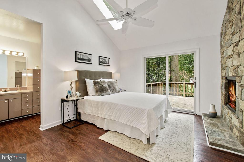 Master Bedroom with Fireplace - 6203 WINSTON DR, BETHESDA