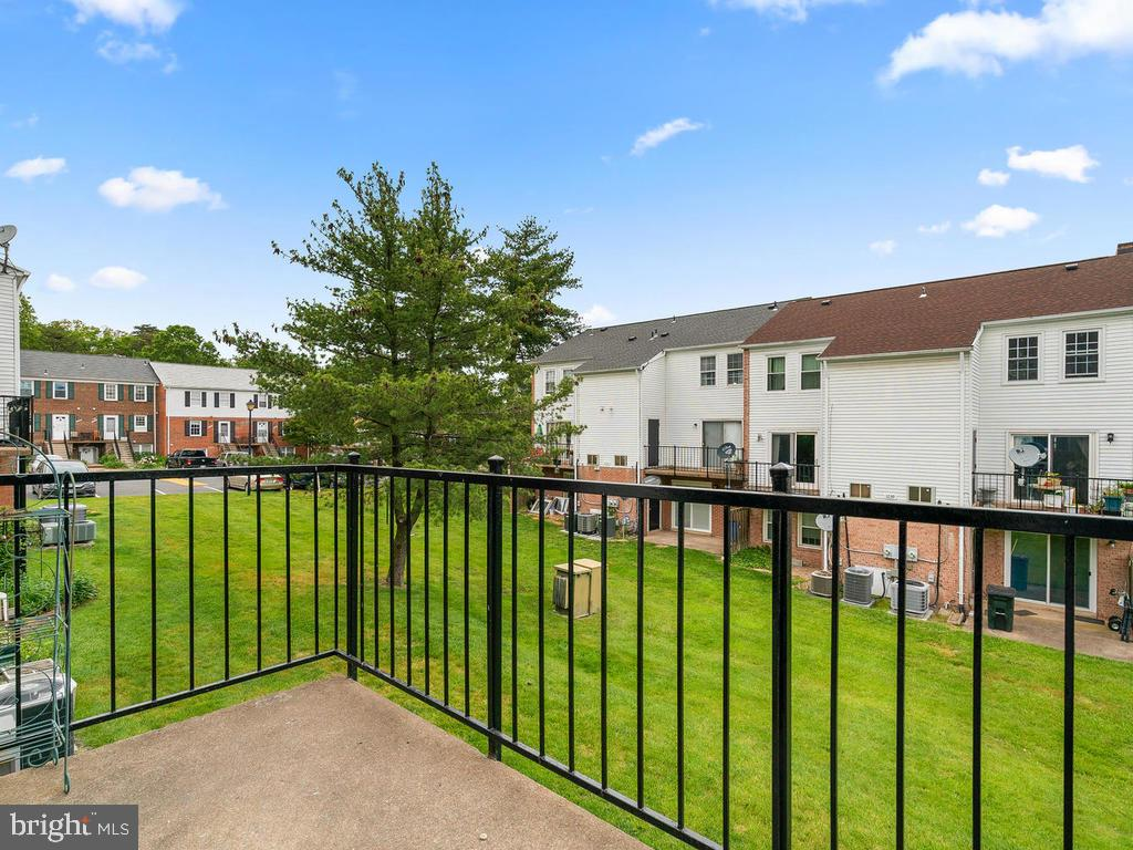 View of the green space from the balcony. - 1030-B MARGATE CT, STERLING