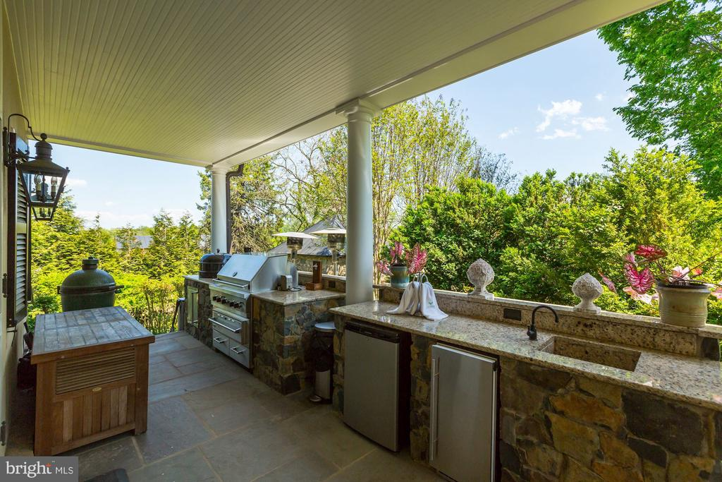 Outdoor kitchenw/viking grill, fridge & sink - 38025 JOHN MOSBY HWY, MIDDLEBURG