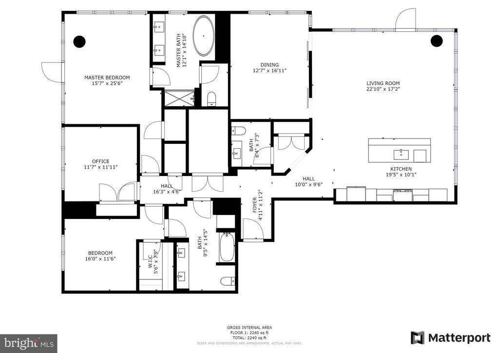 Floor plan - 930 ROSE AVE #2002, ROCKVILLE