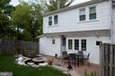 Extensive patio, retaining wall and  privacy! - 900 N FREDERICK ST, ARLINGTON