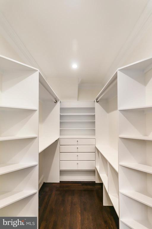 MBR Custom Built walk -in closet shelf system - 2705 WOODLEY RD NW, WASHINGTON