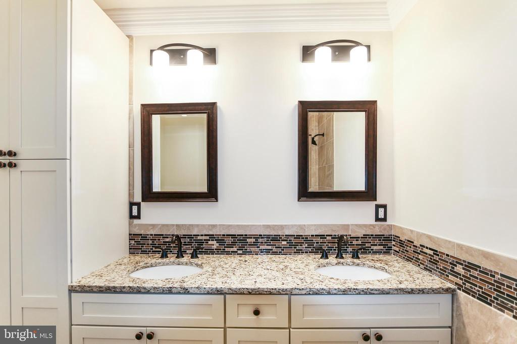 Dual vanities in the Shared Bath - 2705 WOODLEY RD NW, WASHINGTON