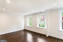 Master Bedroom with continuation hardwood floors - 2705 WOODLEY RD NW, WASHINGTON