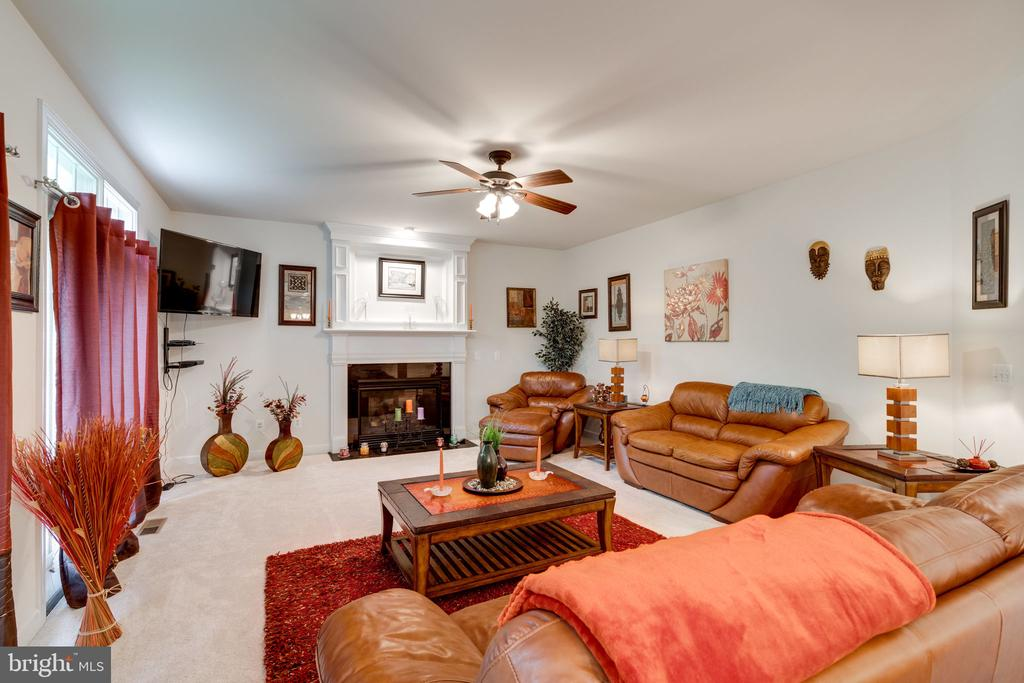 Generous family room with fireplace! - 15672 ALTOMARE TRACE WAY, WOODBRIDGE