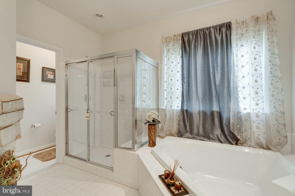 Spacious stand up shower and huge soaking tub! - 15672 ALTOMARE TRACE WAY, WOODBRIDGE