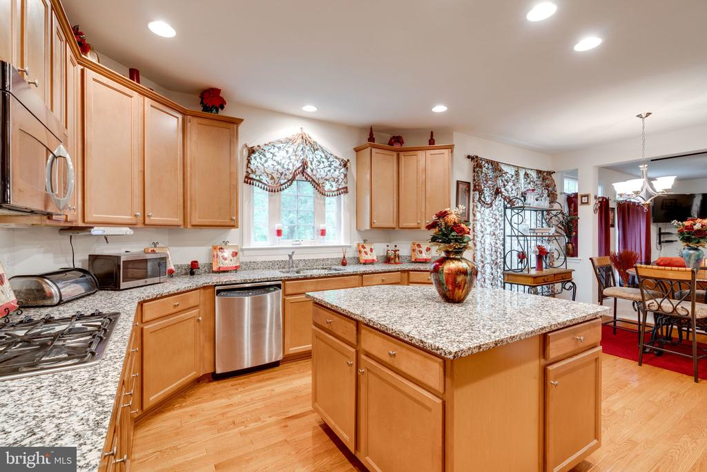 Gourmet kitchen with granite & stainless steel! - 15672 ALTOMARE TRACE WAY, WOODBRIDGE