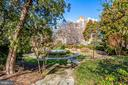 Landscaped gardens and water fountain - 4000 CATHEDRAL AVE NW #43-B, WASHINGTON
