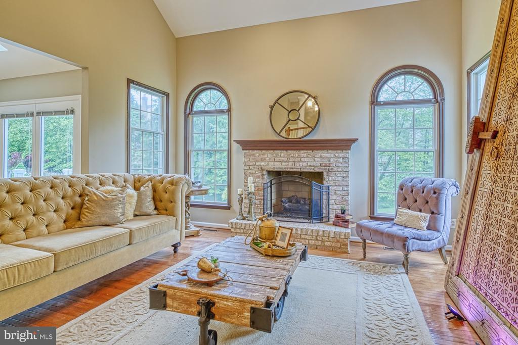 Family Room with Gas Fireplace - 1321 GATESMEADOW WAY, RESTON