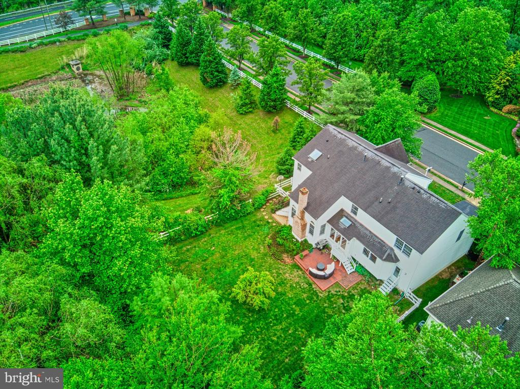Aerial View from Rear - 1321 GATESMEADOW WAY, RESTON