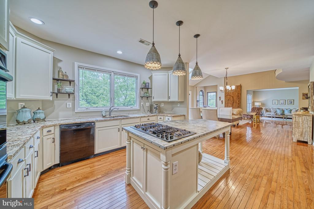 Custom one of a kind zinc topped island - 1321 GATESMEADOW WAY, RESTON