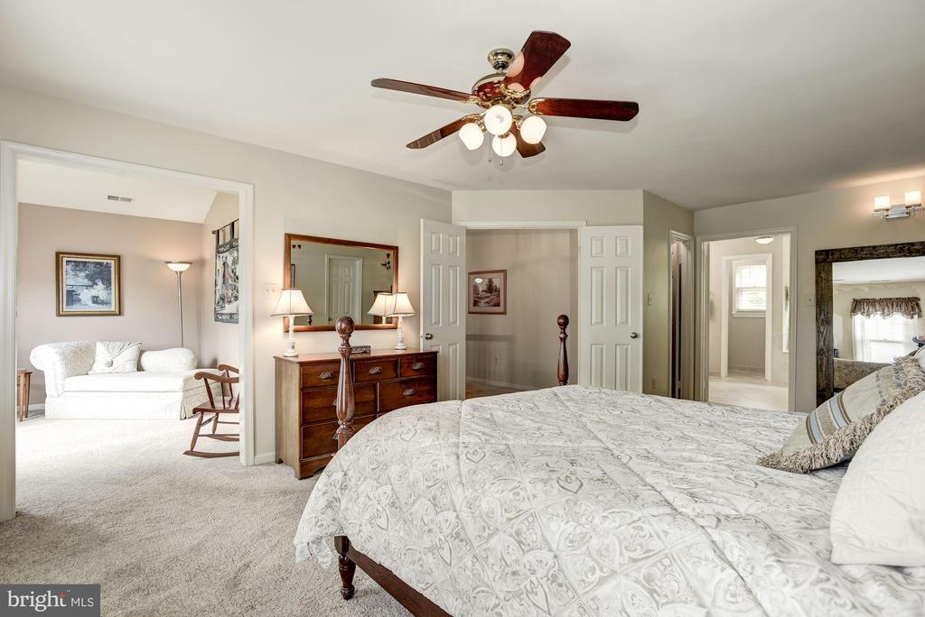 Master Bedroom looking into adjoining setee room - 4811 WALNEY KNOLL CT, CHANTILLY