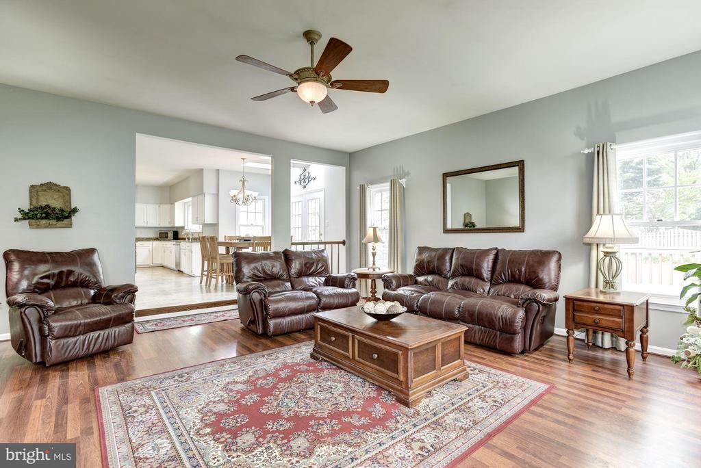 Family Room surrounded by windows - 4811 WALNEY KNOLL CT, CHANTILLY
