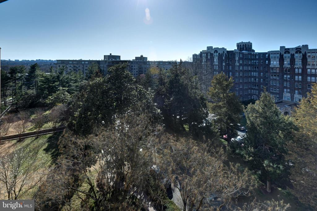 View looking towards Virginia from the balcony - 3900 NW WATSON PL NW #A-7C, WASHINGTON