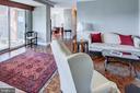Living room w/entrance to balcony - 3900 NW WATSON PL NW #A-7C, WASHINGTON