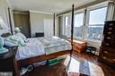 Main bedroom with both closet and linen closet - 3900 NW WATSON PL NW #A-7C, WASHINGTON