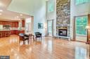 Family room with soaring two story ceiling - 5262 MAITLAND TER, FREDERICK