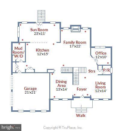 Main Level floor plan - 5262 MAITLAND TER, FREDERICK