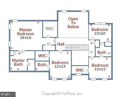 Upper level floor plan - 5262 MAITLAND TER, FREDERICK