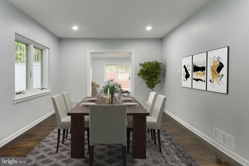 Dining Room - Virtually Staged - 5125 37TH ST N, ARLINGTON
