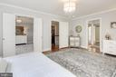 Master Suite (view into adjoining room) - 10106 WINDY KNOLL LN, VIENNA