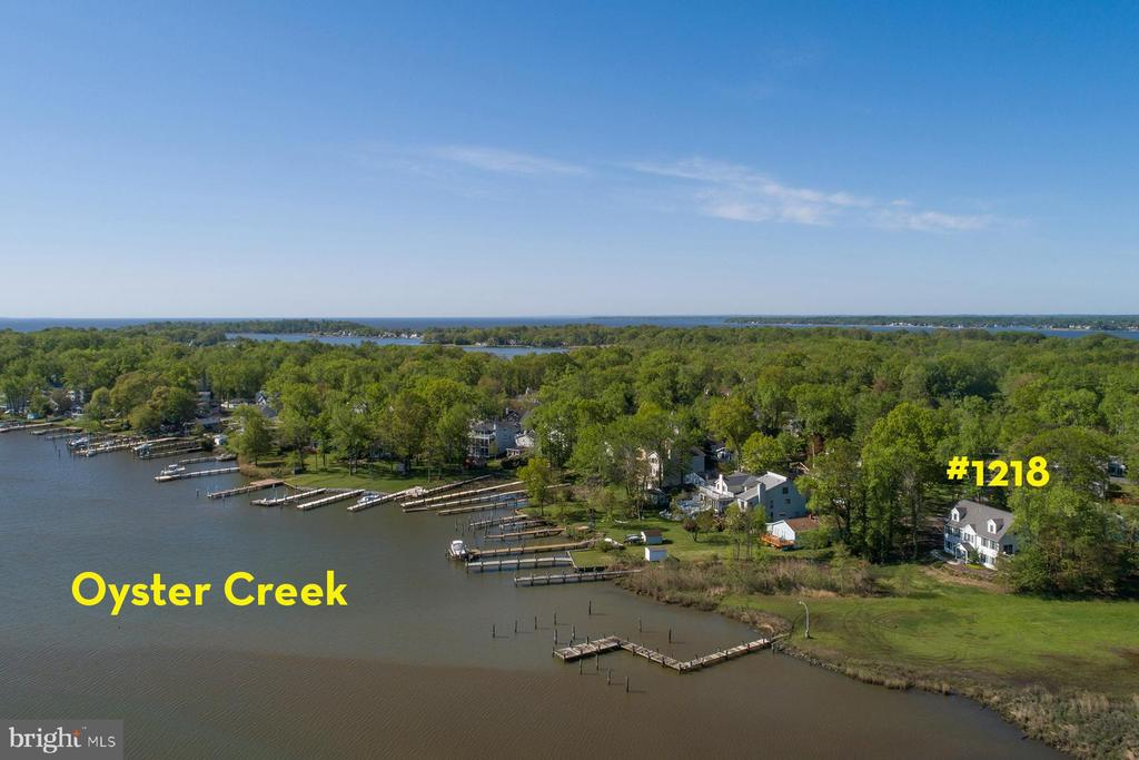 Oyster Creek is a protected anchorage - 1218 WASHINGTON DR, ANNAPOLIS