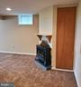 Propane gas fireplace in finished basement - 4510 TIMBERY DR, JEFFERSON