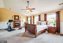 Master bedroom with vaulted ceilings and crown. - 3 MOUNT ARARAT LN, STAFFORD