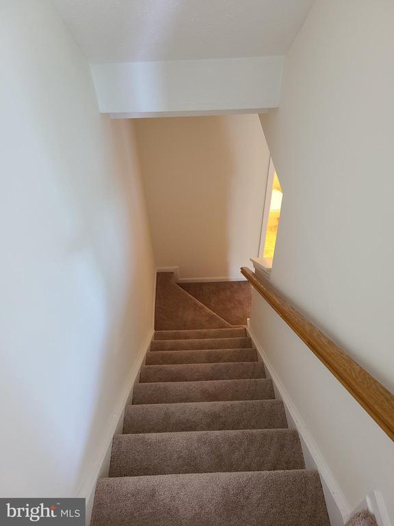 New carpet on basement steps - 43955 CHOPTANK TER, ASHBURN