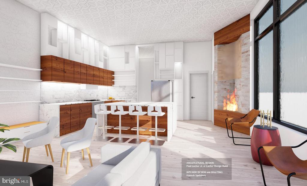Design Concept 1 - West Facing Interior View - 1314 21ST ST NW #1, WASHINGTON