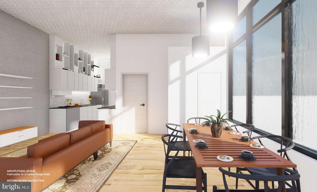 Design Concept 2  - West Facing Interior View - 1314 21ST ST NW #1, WASHINGTON