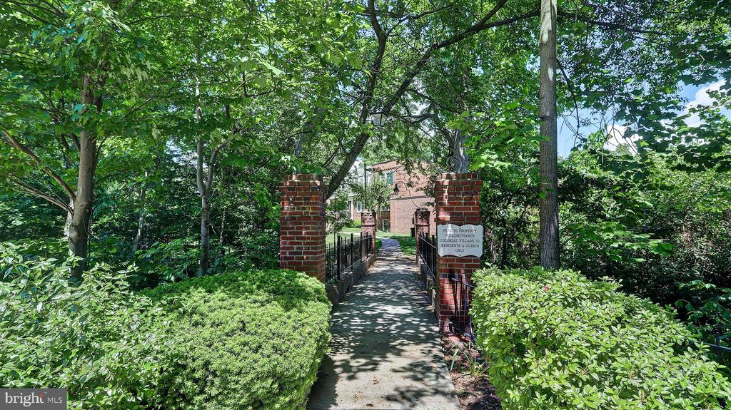 Entrance to the community. - 1821 N RHODES ST #4-263, ARLINGTON