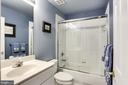 Hall Bath with New Shower Doors - 2112 CHAUCER WAY, WOODSTOCK