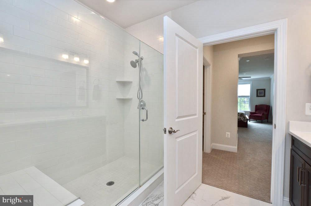 Master Bathroom, Seamless Shower Door - 21025 ROCKY KNOLL SQ #203, ASHBURN