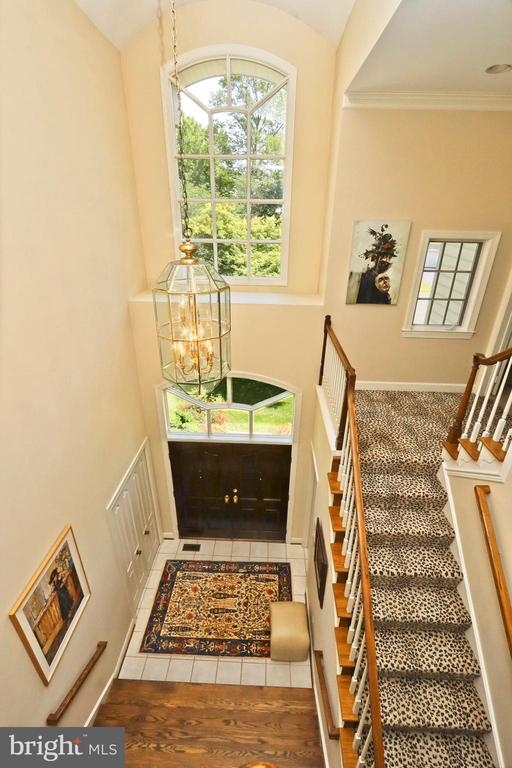 The foyer as viewed from the top - 11331 BRIGHT POND LN, RESTON