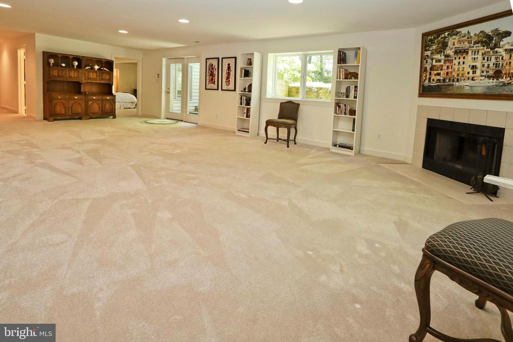 The rec room includes a wood-burning fireplace. - 11331 BRIGHT POND LN, RESTON