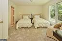 Bedroom 4 with a walk-in closet and separate bath - 11331 BRIGHT POND LN, RESTON