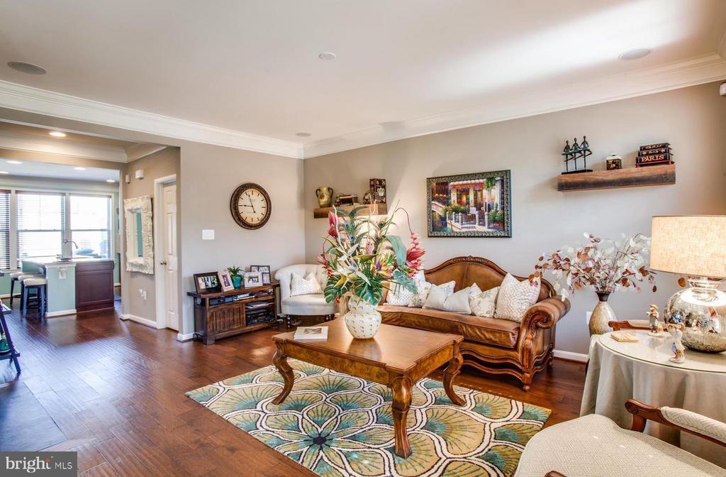 Family Room w/Beautiful Wood Floors - 215 APRICOT ST, STAFFORD