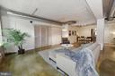 Sliding bedroom door and concrete floors - 916 G ST NW #401, WASHINGTON