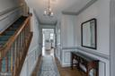 Inviting foyer with chair rail,  and box molding. - 14 STEEPLECHASE RD, FREDERICKSBURG