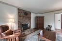 Beautiful brick hearth and surround on fireplace - 14 STEEPLECHASE RD, FREDERICKSBURG