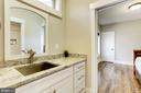 main levell in-law suite sink - 7627 LISLE AVE, FALLS CHURCH